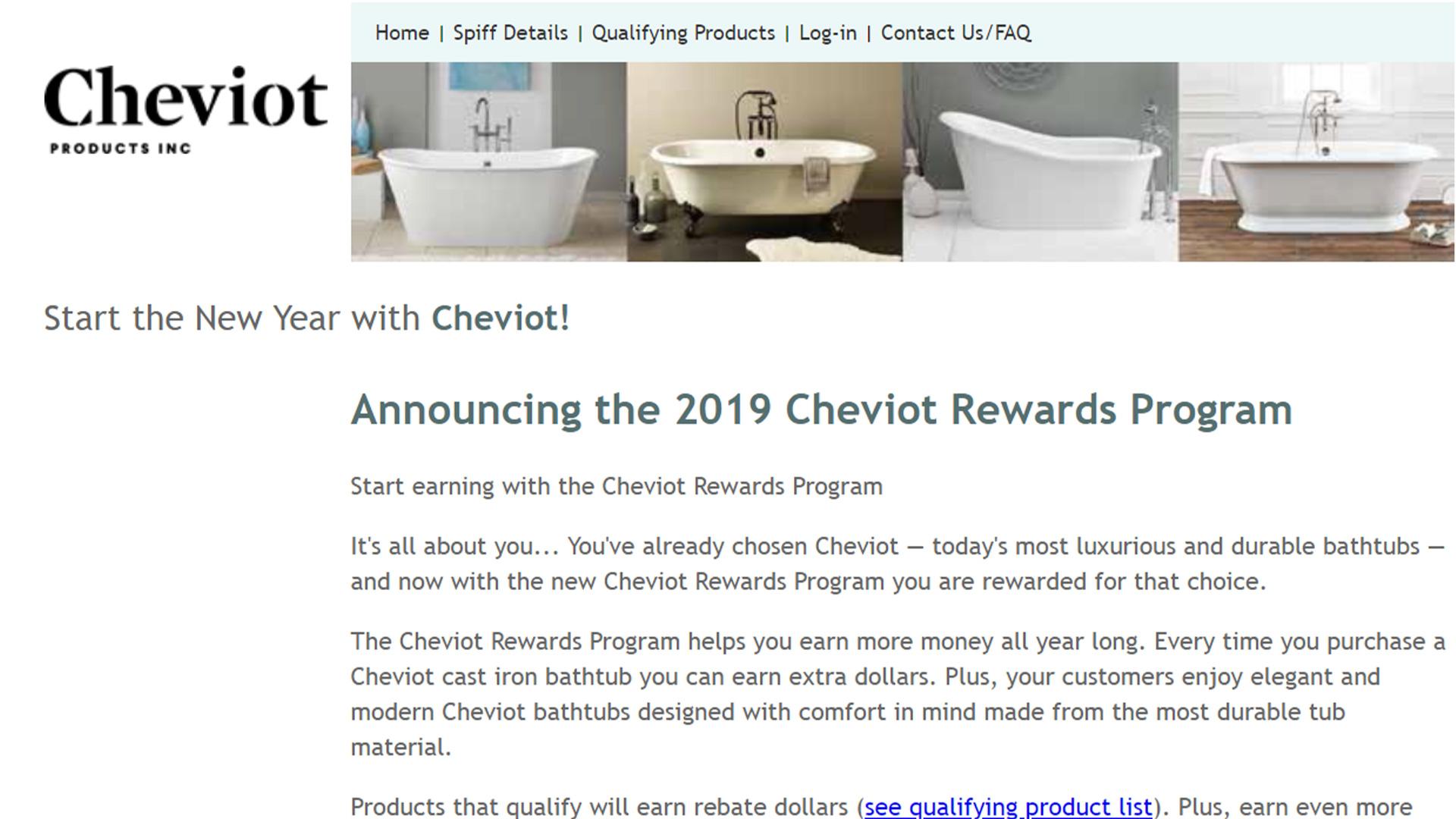 Cheviot Rewards Program