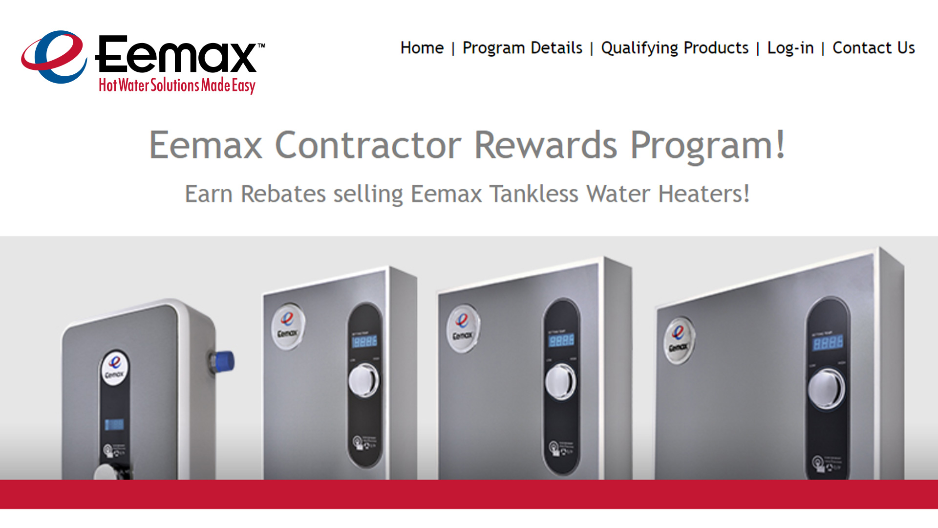 Eemax Rewards Program